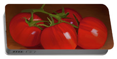 Tomatoes 01 Portable Battery Charger by Wally Hampton
