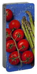 Tomatoes And Asparagus  Portable Battery Charger