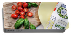 Portable Battery Charger featuring the photograph Tomatoes On Yellow Plate by Rebecca Cozart