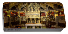 Tomb Of Saint Eulalia In The Crypt Of Barcelona Cathedral Portable Battery Charger by RicardMN Photography