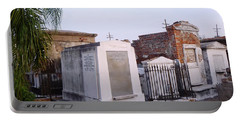 Tombs In St. Louis Cemetery Portable Battery Charger by Alys Caviness-Gober