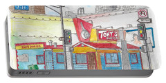 Tony Burger, Downtown Los Angeles, California Portable Battery Charger by Carlos G Groppa