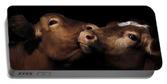 Toned Down Bovine Affection Portable Battery Charger