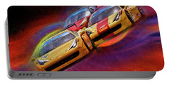 Tony Ferraro Leads Mike Louli And Keith Larson Ferrari Challenge 458 Portable Battery Charger
