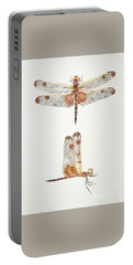 Top And Side Views Of A Male Calico Pennant Dragonfly Portable Battery Charger
