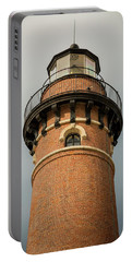 Portable Battery Charger featuring the photograph Top Of Little Sable Point Lighthouse by Adam Romanowicz
