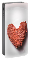 Top View Of Heart Shaped Chocolate Fudge Portable Battery Charger