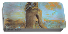 Topless Beach Portable Battery Charger by Donna Blackhall