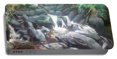 Torc Waterfall County Kerry Ireland Portable Battery Charger by Paul Weerasekera