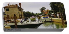 Torcello Island Portable Battery Charger by Cendrine Marrouat