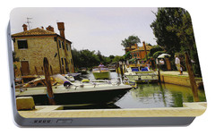 Portable Battery Charger featuring the photograph Torcello Island by Cendrine Marrouat