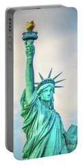 Portable Battery Charger featuring the photograph Torch Of Liberty by Nick Zelinsky