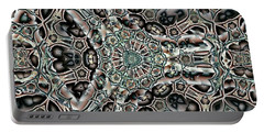 Portable Battery Charger featuring the digital art Torn Patterns by Ron Bissett