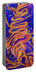 Tornado Swirls Portable Battery Charger by Claire Bull