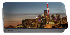 Portable Battery Charger featuring the photograph Toronto Skyline At Dusk by Adam Romanowicz