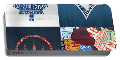 Toronto Sports Team License Plate Art Ontario Map Blue Jays Maple Leafs Raptors Portable Battery Charger