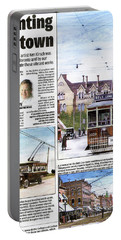 Portable Battery Charger featuring the painting Toronto Sun Article Painting The Town by Kenneth M Kirsch