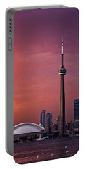 Toronto Sunset Portable Battery Charger by Ian Good