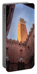 Portable Battery Charger featuring the photograph Torre Del Mangia Siena Italy by Joan Carroll
