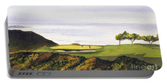 Torrey Pines South Golf Course Portable Battery Charger by Bill Holkham