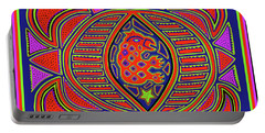 Portable Battery Charger featuring the digital art Tortuga Shaman Spirits by Vagabond Folk Art - Virginia Vivier