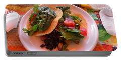 Portable Battery Charger featuring the photograph Tostada Times Two by Marie Neder