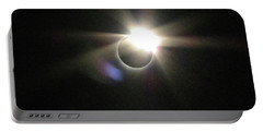 Total Eclipse 2017 Lens Flare Portable Battery Charger