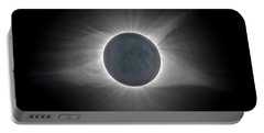 Portable Battery Charger featuring the photograph Total Solar Eclipse With Corona by Lori Coleman
