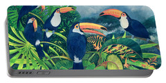 Toucan Talk Portable Battery Charger by Lisa Graa Jensen