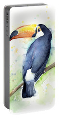 Toucan Watercolor Portable Battery Charger