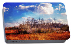 Portable Battery Charger featuring the photograph Touch Of Autumn In The Glades by Debra and Dave Vanderlaan