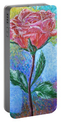 Touched By A Rose Portable Battery Charger