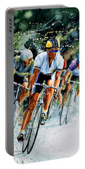 Portable Battery Charger featuring the painting Tour De Force by Hanne Lore Koehler
