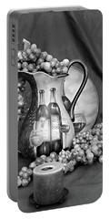 Portable Battery Charger featuring the photograph Tour Of Italy In Black And White by Sherry Hallemeier