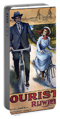 Tourist Rijwielen - Bicycle - Vintage Advertising Poster Portable Battery Charger