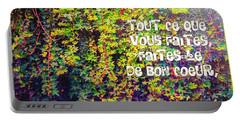 Tout Ce Que Vous Faites, Faites Le, De Bon Coeur Colossiens 3 23 Portable Battery Charger