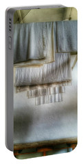 Towels And Sheets Portable Battery Charger by Isabella F Abbie Shores FRSA
