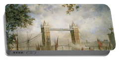 Tower Bridge - From The Tower Of London Portable Battery Charger by Richard Willis