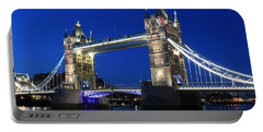 Tower Bridge At Night Portable Battery Charger