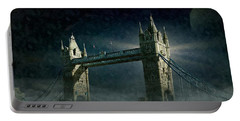 Tower Bridge In Moonlight Portable Battery Charger