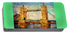 Tower Bridge London Portable Battery Charger by Judi Saunders