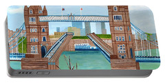 Tower Bridge London Portable Battery Charger by Magdalena Frohnsdorff