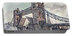 Portable Battery Charger featuring the digital art Tower Bridge by Pennie  McCracken
