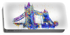 Tower Bridge Watercolor Portable Battery Charger