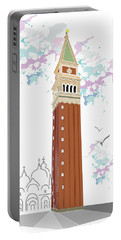 Tower Of Campanile In Venice Portable Battery Charger