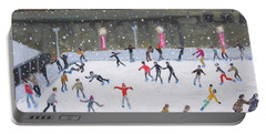Tower Of London Ice Rink Portable Battery Charger by Andrew Macara