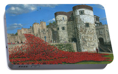 Tower Of London Poppies - Blood Swept Lands And Seas Of Red  Portable Battery Charger by Richard Harpum