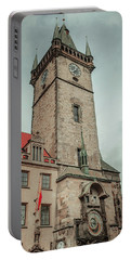 Portable Battery Charger featuring the photograph Tower Of Old Town Hall In Prague by Jenny Rainbow