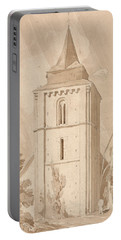 Tower Of The Village Church Of Saint Maclou, Normandy Portable Battery Charger