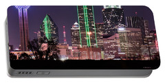 Towering Over Dallas Portable Battery Charger by Frozen in Time Fine Art Photography